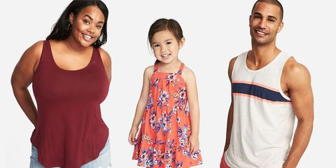 232d9afd9f948 Old Navy's 2018 Memorial Day Sale Includes $5 Tanks and $10 Swimsuits. Old  Navy