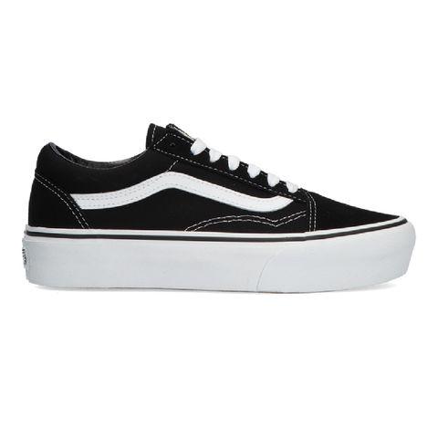 zwarte vans sneakers old skool platform
