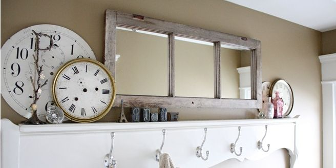 Old Window Frames Easy Craft Ideas, How To Turn Window Into Mirror