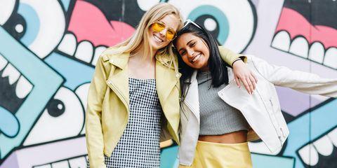 Street fashion, Yellow, Fun, Fashion, Outerwear, Photography, Eyewear, Happy, Jacket, Blazer,