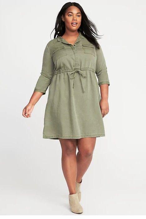 Clothing, Dress, Day dress, Shoulder, Sleeve, Khaki, Beige, Fashion model, Neck, Joint,