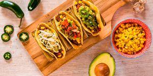 Tacos de restaurante mexicano OleMole, Madrid