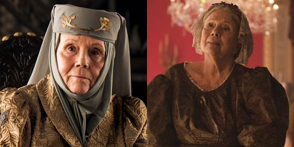 Diana Rigg The Queen of Thorns went out on a fittingly sharp note, but Dame Diana Rigg is far from done. In 2017, she joined the cast of ITV's Victoria as the Duchess of Buccleuch .
