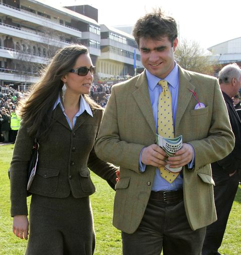 all of the royal family's best and closest friends   kate middleton and oliver baker are seen here at cheltenham horse racing festival at cheltenham racecourse on march 13, 2007