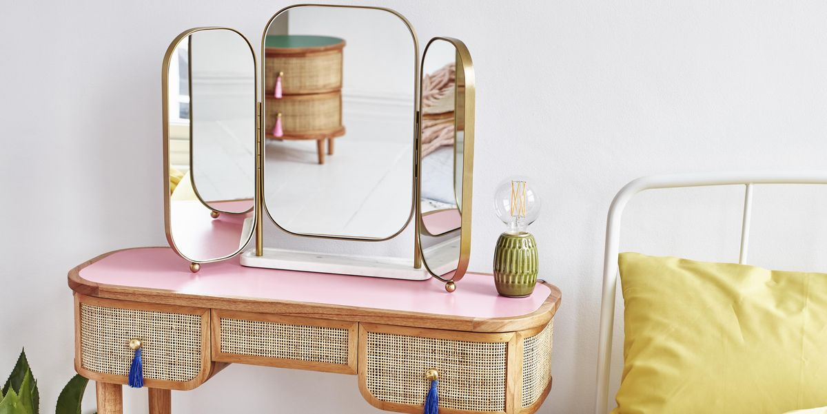 oliver bonas alice dressing table mirror rattan kinship dressing table
