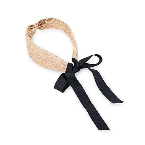 Oliver Bonas Sparkly Woven Straw Headband