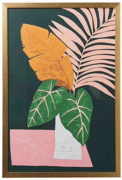 painting of leaves in vase