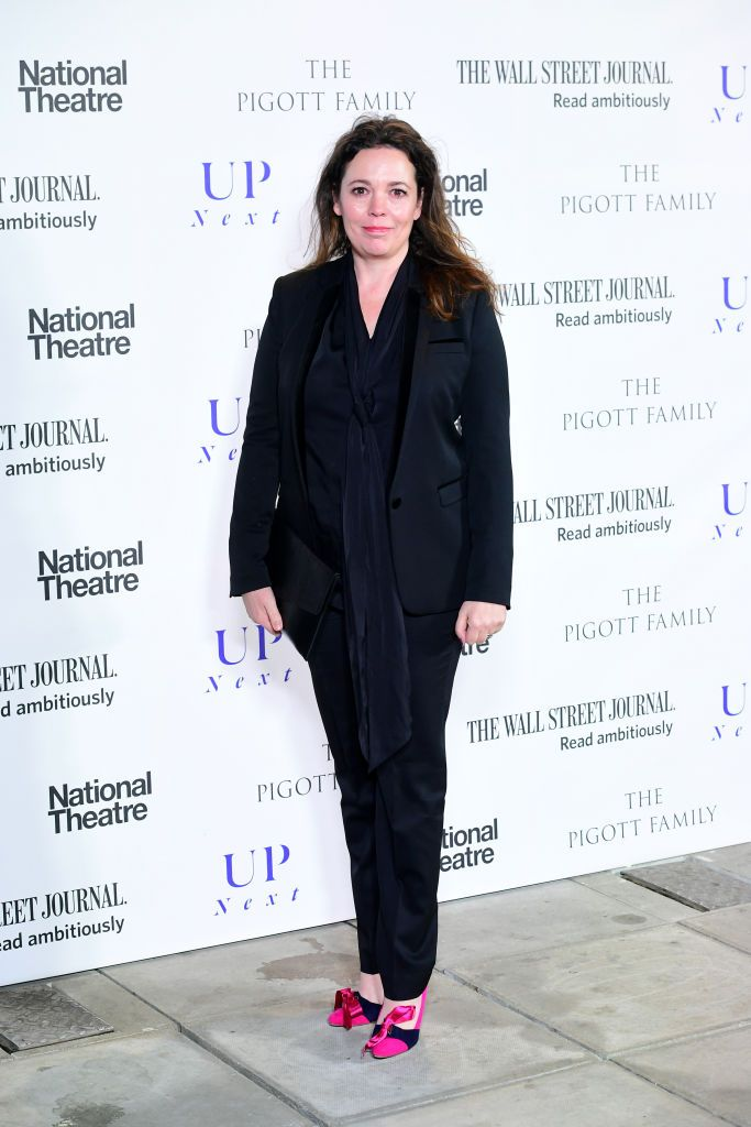 The actress added a bold pop of pink to a black suit with a pair of vibrant pumps at the Up Next Gala in London.