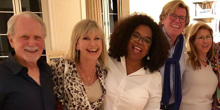 Olivia Newton John Hangs Out With Oprah And Gayle King Amid Her Cancer Battle
