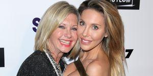 olivia newton-john and daughter, chloe lattanzi - cancer update on 60 minutes