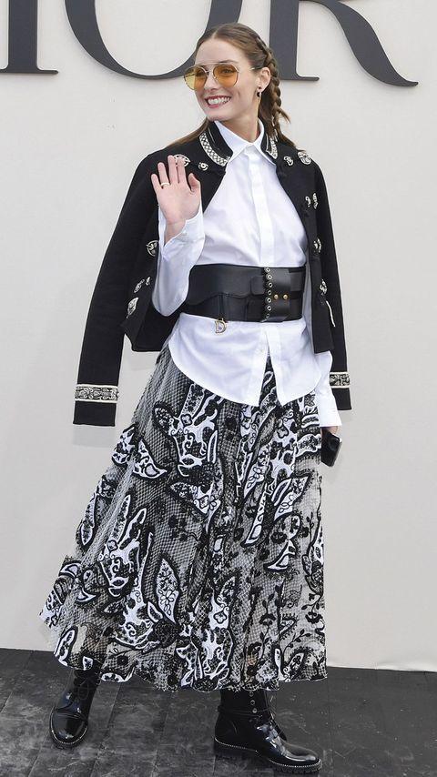 Olivia Palermo en un desfile de Dior