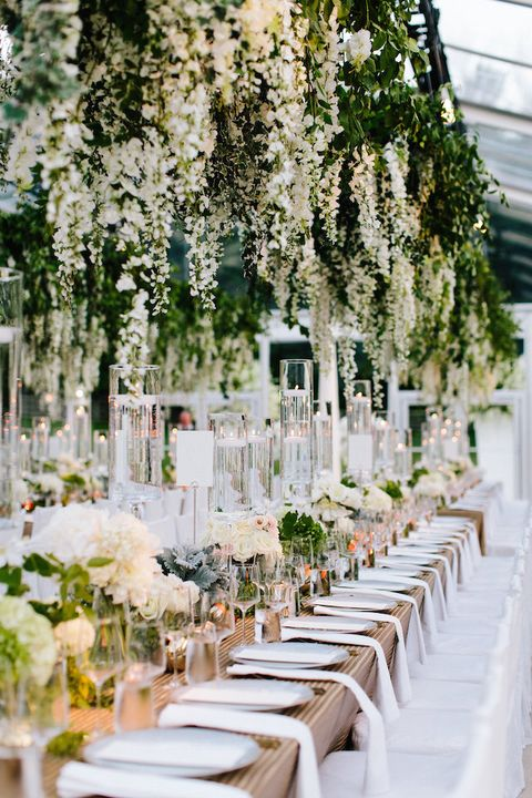 Decoration, White, Wedding reception, Floral design, Table, Rehearsal dinner, Branch, Floristry, Flower Arranging, Chiavari chair,