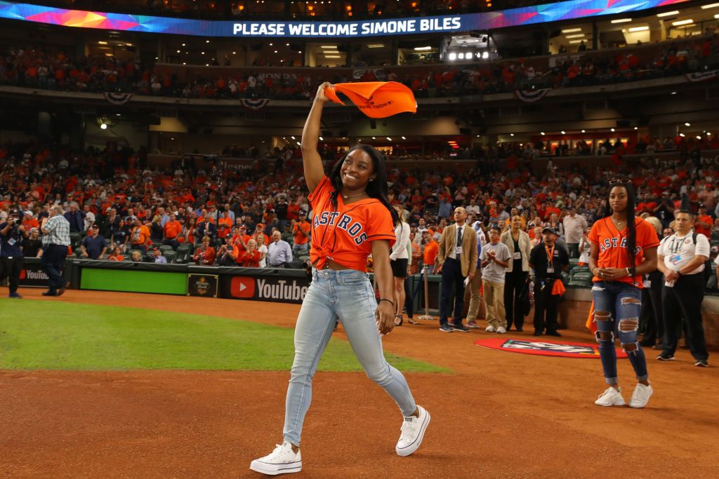 Cancel the World Series, Simone Biles's First Pitch Just Won Everything