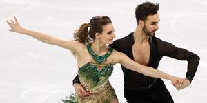 French Olympic ice skater had a wardrobe malfunction mid-routine
