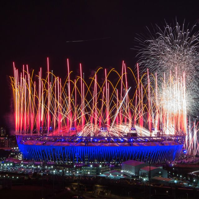 london, england   july 27 fireworks explode over the olympic stadium during the opening ceremony of the 2012 london olympic games on july 27, 2012 in london, england athletes, heads of state and dignitaries from around the world have gathered in the olympic stadium for the opening ceremony of the 30th olympiad london plays host to the 2012 olympic games which will see 26 sports contested by 10,500 athletes over 17 days of competition photo by daniel berehulakgetty images
