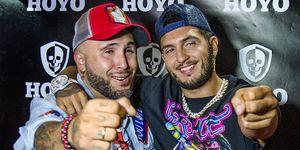 Omar Montes y Kiko Rivera en la discoteca Hoyo