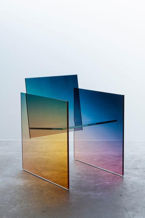 Colorfulness, Wall, Floor, Rectangle, Teal, Aqua, Parallel, Majorelle blue, Transparent material, Design,