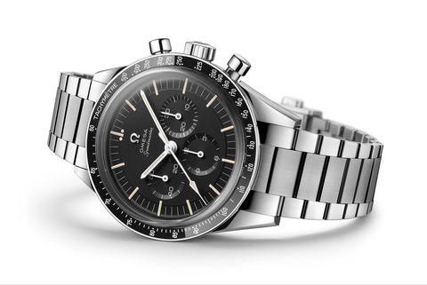reloj omega plata esfera negra