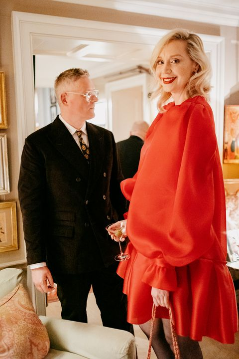Charles Finch and Chanel pre-Bafta party