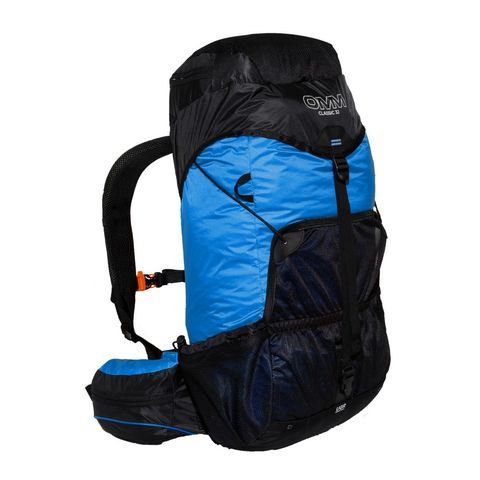 Backpack, Product, Bag, Blue, Hiking equipment, Luggage and bags, Cobalt blue, Backpacking, Electric blue, Adventure,