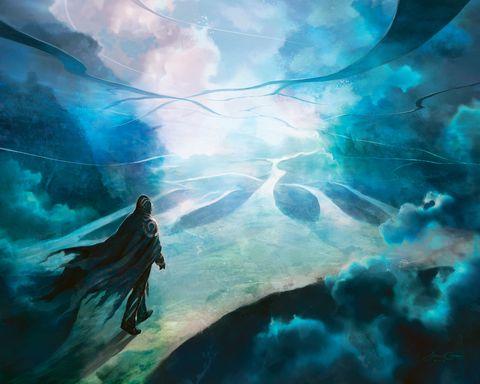 Aqua, Teal, Arte, Turquesa, Cg artwork, Personaje de ficción, Pintura, Mitología, Pintura artística, Obra de arte,