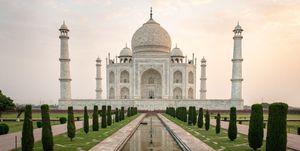 Tourism At The Taj Mahal In Agra