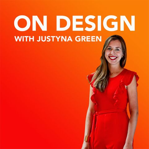 on design with justyna green podcast logo
