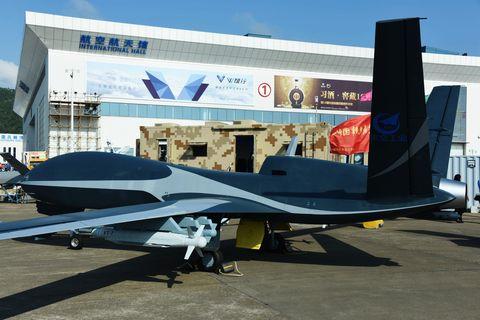 Heavy Military Drones Seen In Zhuhai, China