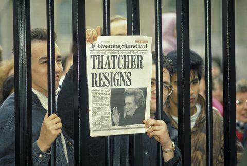 margaret thatcher resignation headline
