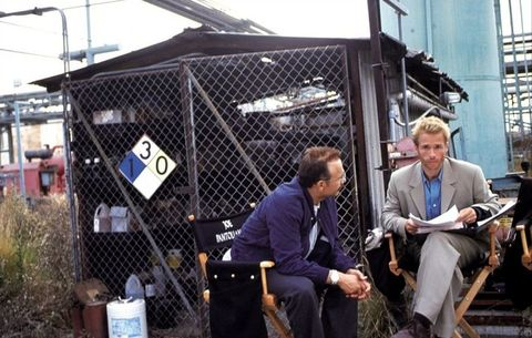 on the set of memento 2000