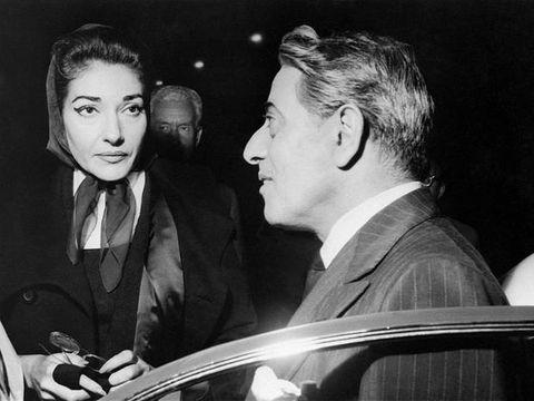 Onassis e Maria Callas