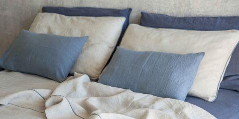 Pillow, Furniture, Bedding, Cushion, Throw pillow, Comfort, Textile, Linens, Room, Bed sheet,