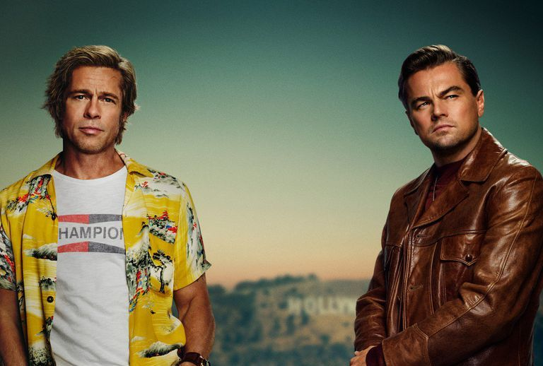 The Once Upon a Time in Hollywood Poster Is the Brad Pitt and Leonardo DiCaprio Image of Your Dreams