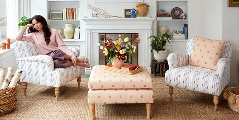 Living room, Furniture, Room, Couch, Interior design, Home, Yellow, Pink, studio couch, Sofa bed,