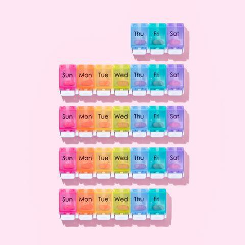 one month 30 days pill organizer