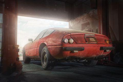 Ferrari, Ferrari 365 GTB4, Ferrari Daytona, Ferrari Daytona Scaglietti, auctions, barn finds