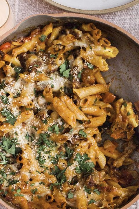 one pot meals cheesy sausage pepper pasta bake