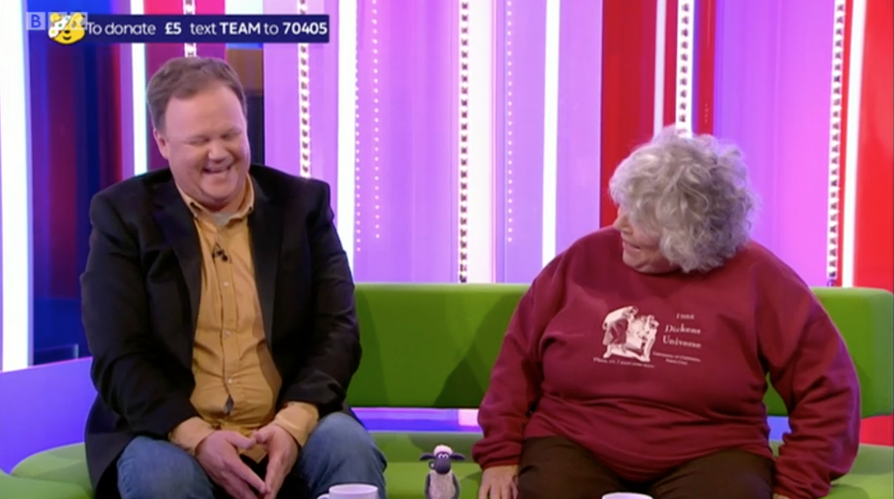 One Show viewers condemn Harry Potter's Miriam Margolyes for mocking Mr Tumble's weight live on air