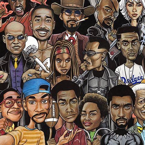 one time use  kenneth j franklin illustration  black history month celebration