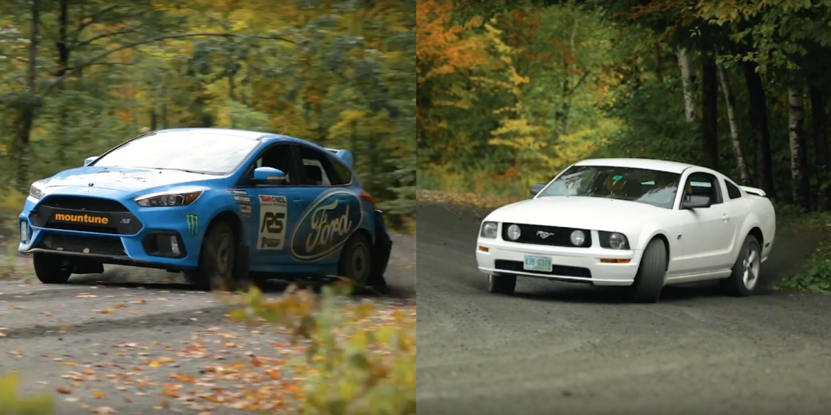 Slow Motion Ford Rally Drifting Action Team O Neil Focus Rs Video