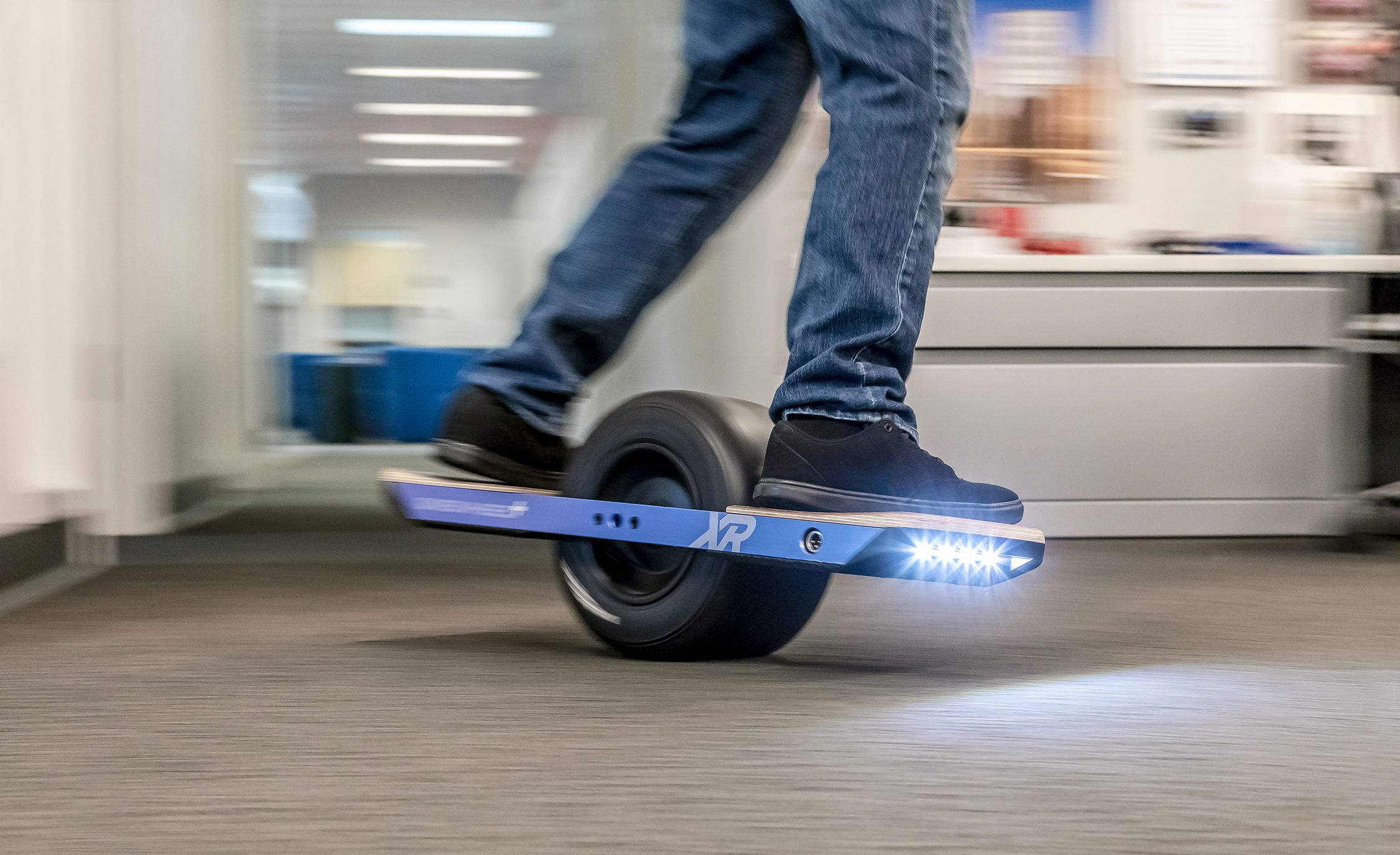 We Drive A Single Wheeled Motorized Skateboard In Our Office And No One Gets Hurt Badly