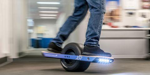 Wheel, Skateboard, Kick scooter, Vehicle, Skateboarding Equipment, Footwear, Rolling, Balance, Boardsport, Recreation,