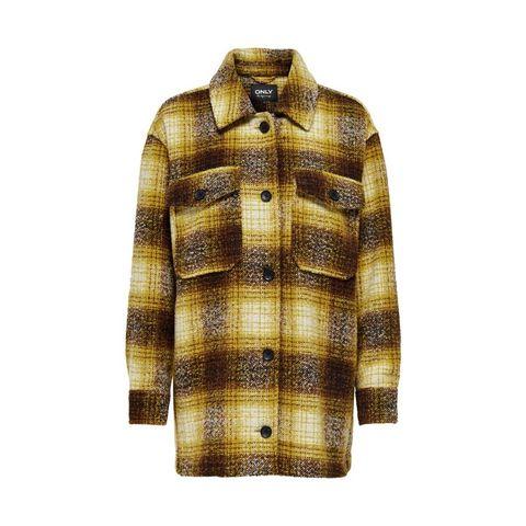only geruite jas geel