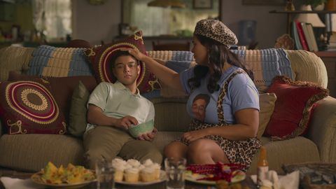on my block l to r jason genao as ruby martinez and jessica marie garcia as jasmine in episode 402 of on my block cr courtesy of netflix © 2021