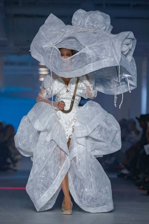 White, Fashion, Art, Headgear, Event, Costume, Carnival, Performance art, Fashion design,