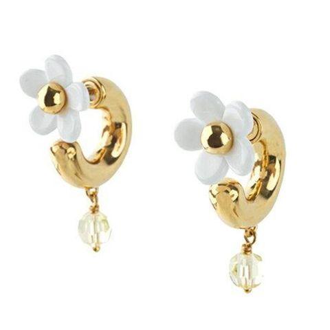 oorbellen oorringen dames bloemetjes goud
