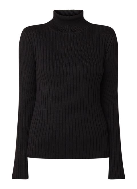Clothing, Black, Neck, Sleeve, Sweater, Outerwear, Wool, Shoulder, Jersey, Top,