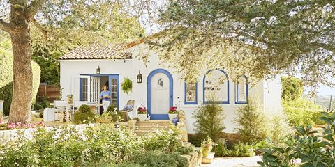 small spanish style california cottage