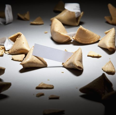 Open fortunes cookies with messages