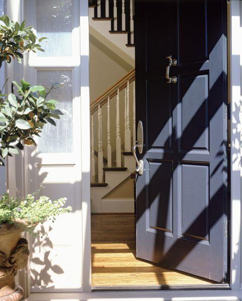 Open front door of house